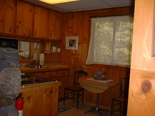 Somesville chalet photo - 2nd Kitchen on Lower level w/range,refrig,microwave,small appliances
