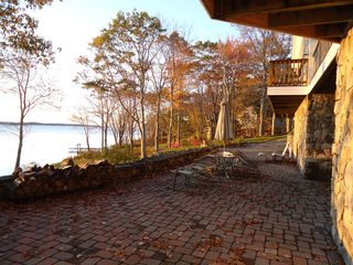 Westport Island house photo - stone patio just steps from the water