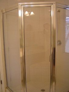 Shower in master bedroom bathroom