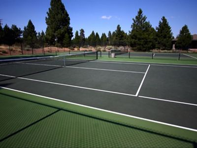 Tennis courts, Swimming pool with hot tub, recreation room and playground!