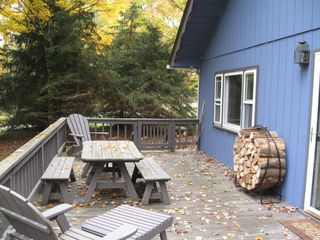 Margaretville cabin photo - Relax on the deck!