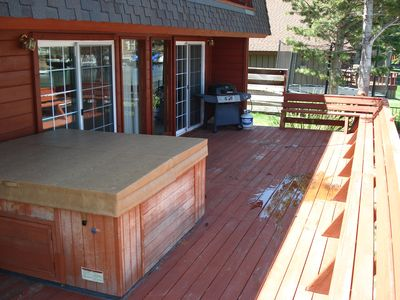 Tahoe Keys house rental - Hot Tub is located out on the deck