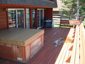 Hot Tub is located out on the deck