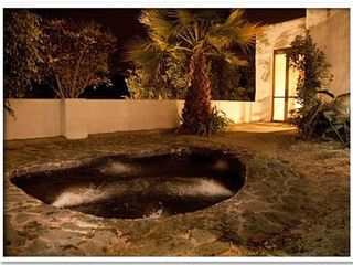 Lago San Pablo villa photo - Outdoor hot tub/jacuzzi, palms and orchids, so romantic!