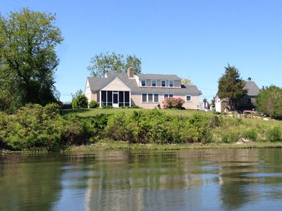 View of the house from the water.