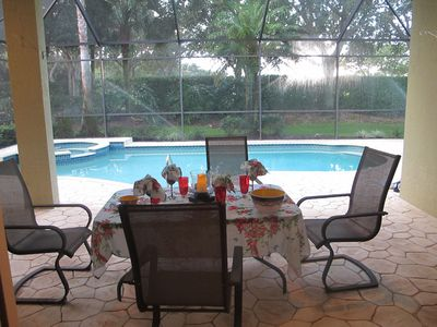 enjoy al fresco dining on your private covered lanai - with an easy dip in pool