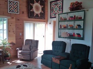 Ithaca cottage photo - Other seating area in living room hand made quilts