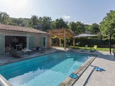 Villa with pool in the lower Verdon gorges