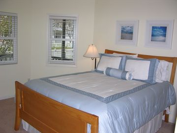 First floor master bedroom with it's own HDTV and very spacious!