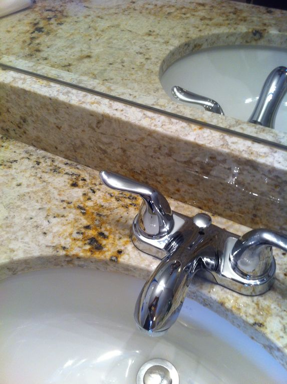 Granite countertops in kitchen and bathrooms