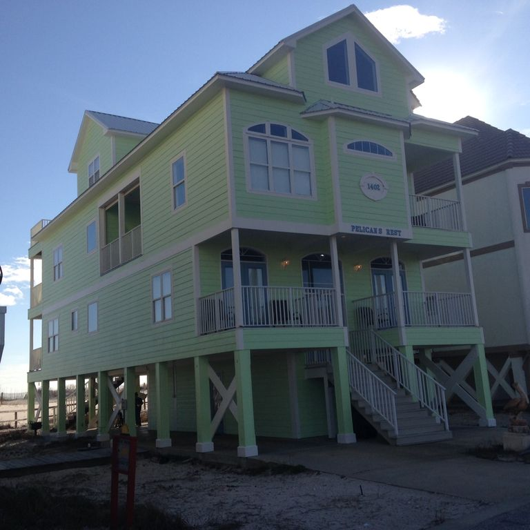 Fort Morgan Beach Houses: Right On The Beach! 7 Bedroom & 6.5...