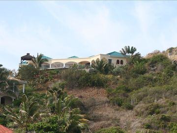 View of Villa Valhalla from Dawn Beach