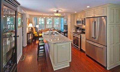 Kitchen with sitting/living area.  Butler pantry is for convenient entertaining.