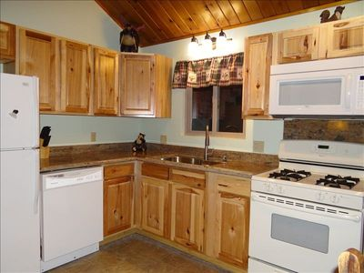 Newly renovated kitchen--spacious and sparkling clean!