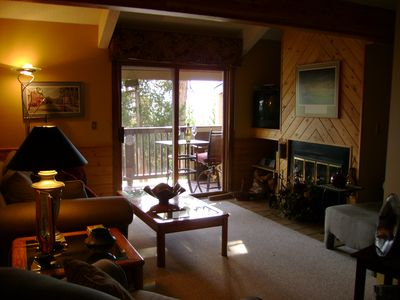 Our wonderful living room. It is hazy due to all the forest fires in Wyoming.