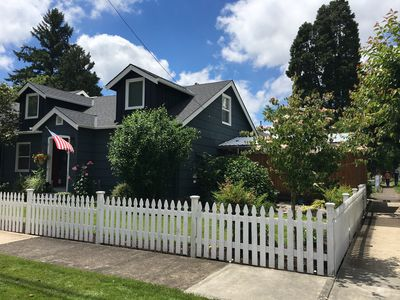 Right in the heart of old town Newberg Oregon and the beautiful wine country.