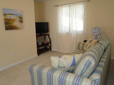 Cape Charles house rental - Curl up with book in the sunny loft with queen sleeper sofa and TV