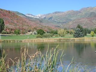 Midway condo photo - Pond and golf course at nearby Wasatch Mountain State Park.