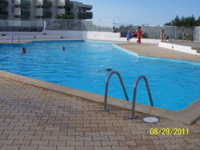 T2 apartment of 37 m² on the ground floor, air conditioned, very nice cuisine served