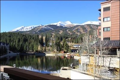 Base of Peak 9 & Main St. Location. View of Peak 9 over Maggie Pond