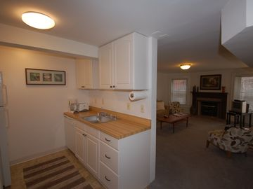 The kitchen includes all appliances, refrigerator, stove/oven and dishwasher