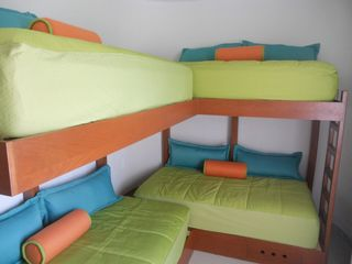Isla Mujeres condo photo - 3rd bedroom, lock off, 2 twin beds with 2 lofts, all with memory foam toppers