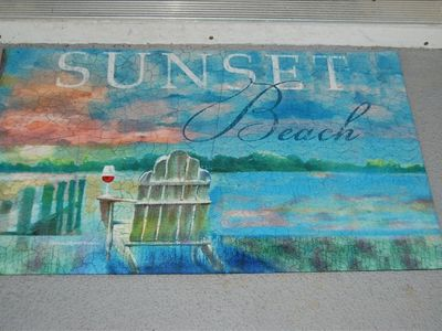 Your Welcome Mat....welcome to our Villa and to Sunset Beach
