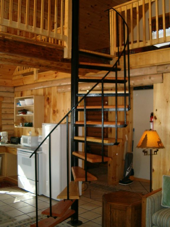Spiral staircase to loft areas