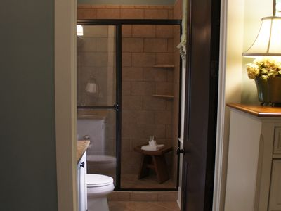 View of the master bath