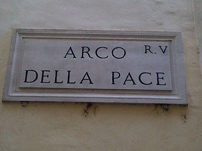 Street name - Arch of the Peace Aptly named street