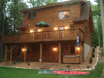 Indian River cabin rental - View of Cabin from the Sturgeon River