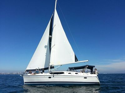 Authentic Evening Anchored In Glorietta Bay Aboard A 45 Foot Sailing Yacht