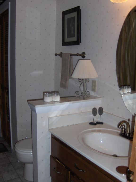 2 Full Bathrooms - w/tub and shower. Master bedroom has a private bath.