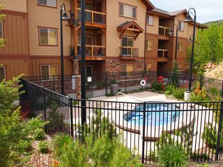 Bear Hollow Village condo photo - Hot tub just 100 feet off your private patio!