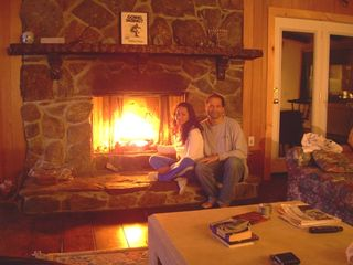 Mount Snow house photo - Romantic fieldstone fireplace! Huge12-foot hearth!