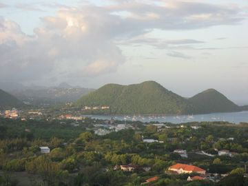 RODNEY BAY FROM HUMMINGBIRD VILLA TOWARDS SUNSET