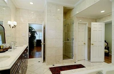 Master Bath Features Shower