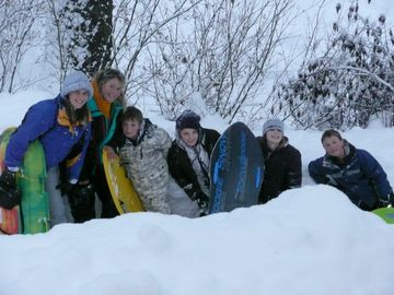 They had so much fun sledding!