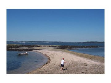 Casco Bay island beaches are easily accessible via kayak, relatively calm waters