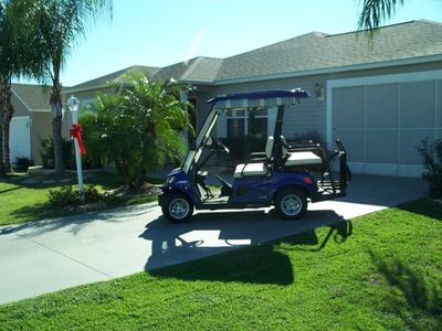 New 4 Seat Gas Golf Cart.  Home professionally landscaped.