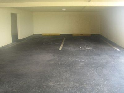 Two covered parking spaces