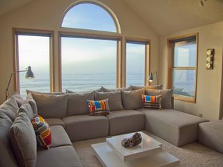 Yachats house photo - The Sand Castle with a Two Story Oceanfront View!