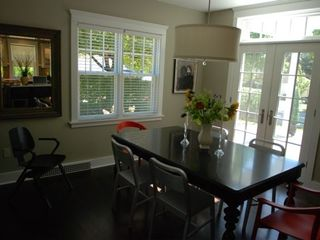 Sheboygan house photo - Dining area opens to trellised patio