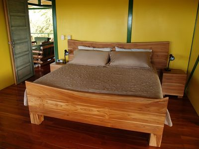 Local custom-made Kingsize teak bed, night tables - Masterbedroom 2013