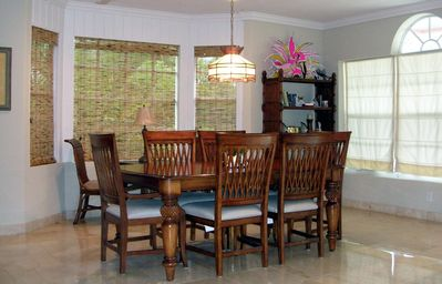 Great Exuma villa rental - Dining room with incredible water views