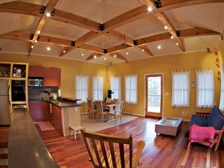 Hot Springs house photo - Upstairs: Kitchen, dining, living areas (futon for extra bed)