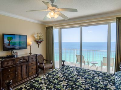 Enjoy your own Gulf of Mexico View from the Luxury King bed in the Master Suite.