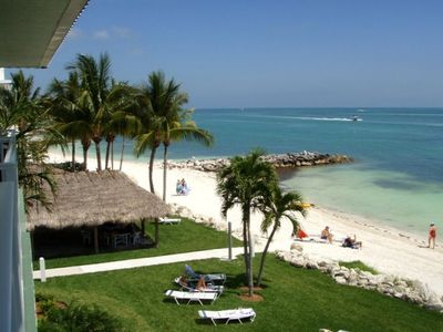 Key Colony Beach condo rental - Ocean View from Balcony with Tiki Hut