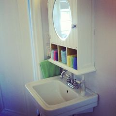 Gowen cottage photo - Bathroom sink. Cabinet is stocked with children's meds in case you forgot!
