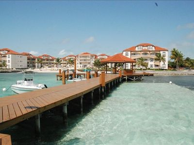Grand Caribe resort from end of private dock
